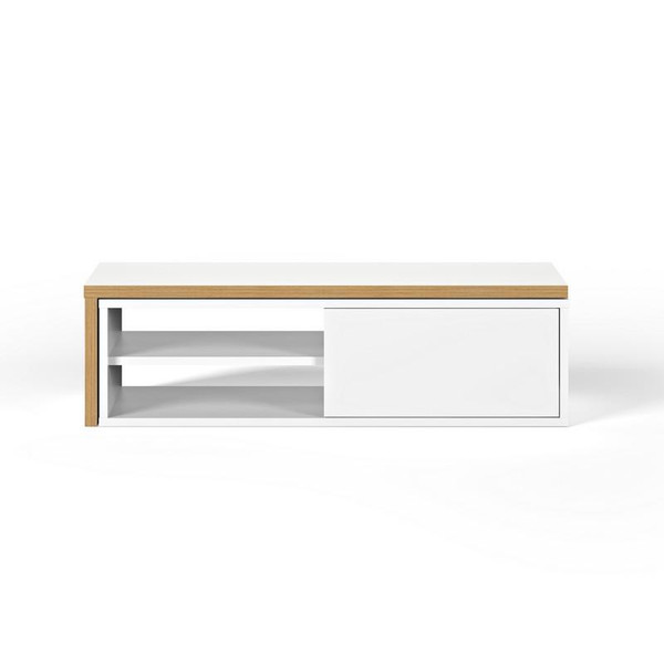 Temahome Move TV Stand - Pure White & Plywood - 9000.639197