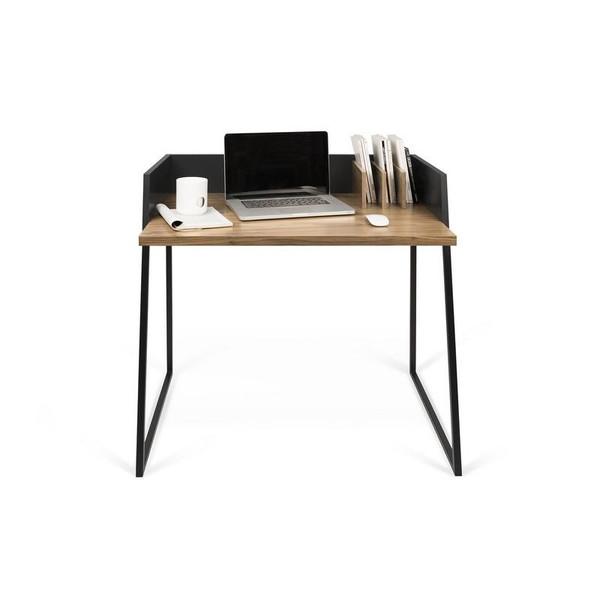 Temahome Volga Desk - Walnut/Pure Black - 9003.052927