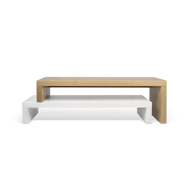 Temahome Cliff TV Stand - Pure White/Oak - 9003.638299