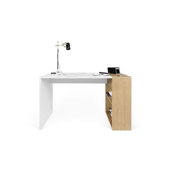 Temahome Harbour Writing Desk - Pure White/Oak - 9500.052996