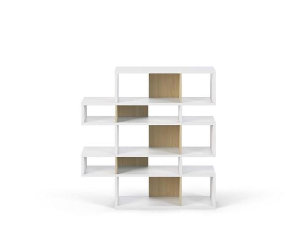 Temahome London Composition 2010-002 Shelving-White Frame/Oak Backs - 9500.319709