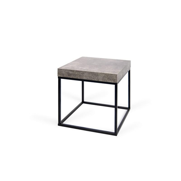 Temahome Petra End Table - Concrete Look Top/Black Legs - 9500.627095