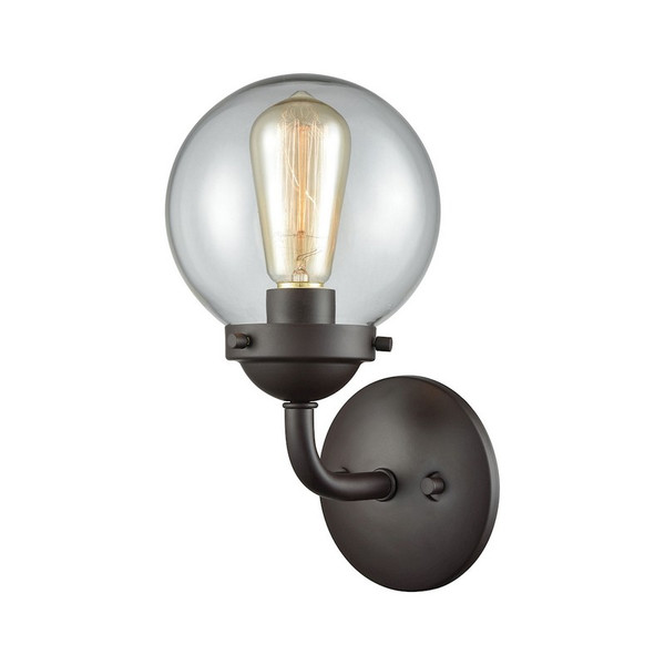 Beckett 1 Light Bath In Oil Rubbed Bronze And Clear Glass CN129121