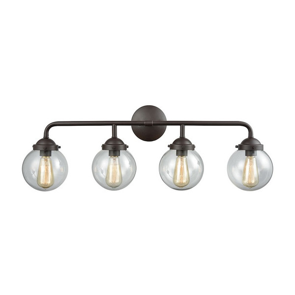 Beckett 4 Light Bath In Oil Rubbed Bronze And Clear Glass CN129411
