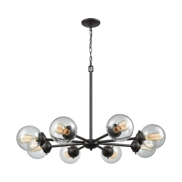 Beckett 8 Light Chandelier - Oil Rubbed Bronze W/ Clear Glass CN129821