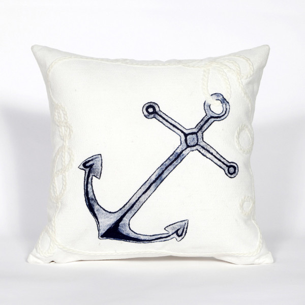 """Visions Ii Marina Indoor/Outdoor Pillow White 20"""" Square 7SB2S418402"""