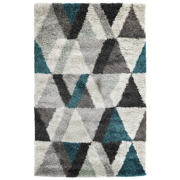 """Andes Triangle Indoor Rug Teal 23""""X7'6"""" ADSR8624104 By Trans Ocean"""