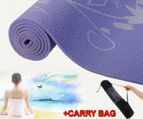 """68"""" X 24"""" X 0.24"""" (6.3 Mm) Flower-Print Non-Slip Exercise Yoga Mat SP26691"""