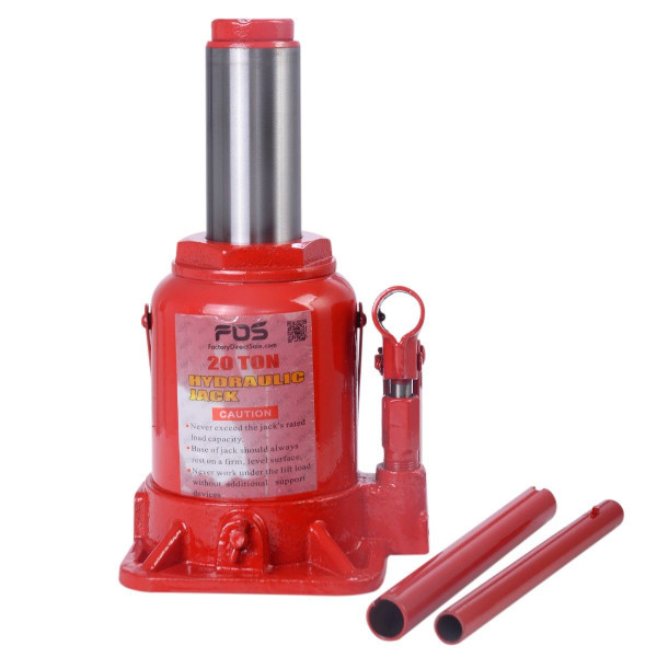 20 Ton Hydraulic Bottle Jack Low Profile Automotive Shop Axle Jack Hoist Lift Red TL31071