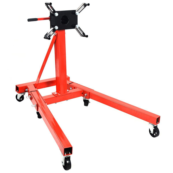 2000 Lb Motor Stand Engine Hoist Truck Folding Shop Jack AT4309
