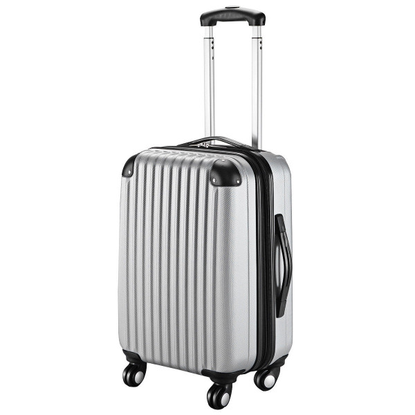 """Globalway 20"""" Abs Carry On Luggage Travel Bag Trolley Suitcase 8 Color-Gray BG49830GR"""