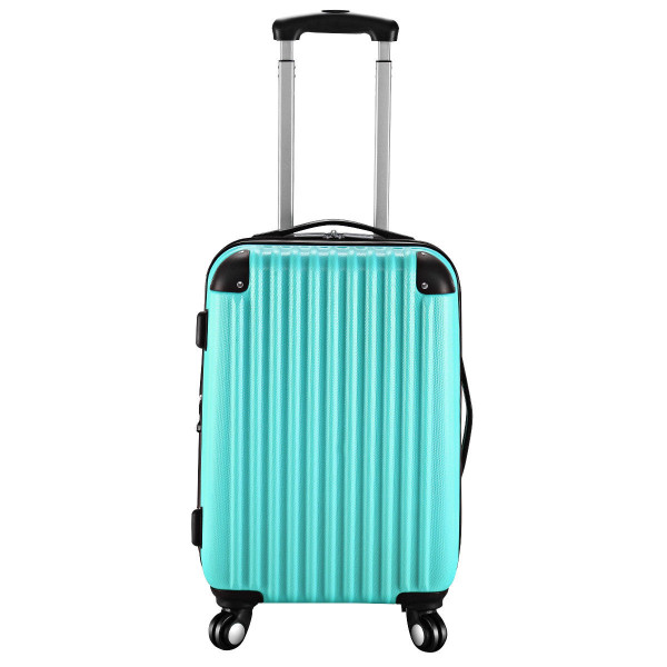 """Globalway 20"""" Abs Carry On Luggage Travel Bag Trolley Suitcase 8 Color-Green BG49830GN"""