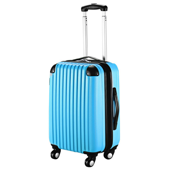 "Globalway 20"" Abs Carry On Luggage Travel Bag Trolley Suitcase 8 Color-Blue BG49830BL"