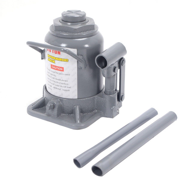 20 Ton Hydraulic Bottle Jack Low Profile Hoist Lift AT4403