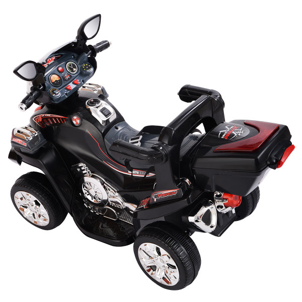 20-Day Presell 4 Wheel Kids Ride On Motorcycle 6V Battery Powered R/C Electric Toy Power Bicyle-Black TY217209BK