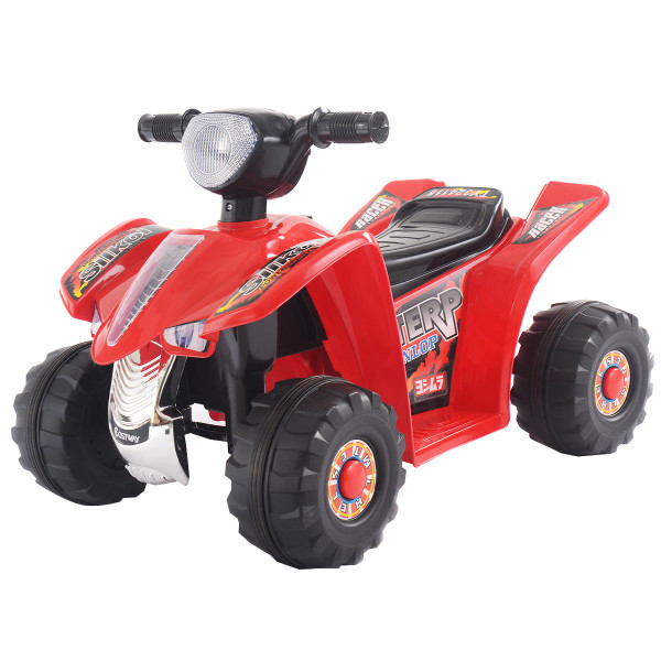 6V Kids Ride On Atv Quad 4 Wheeler Electric Toy Car Battery Power Led Lights-Red TY324115RE