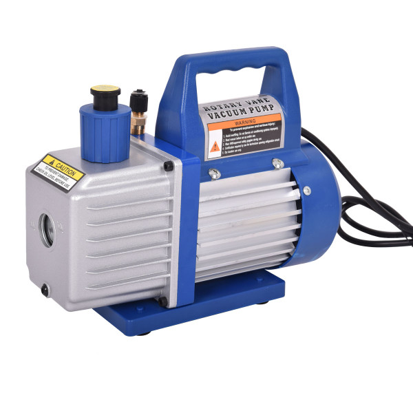 Single Stage 1/3Hp 4Cfm Rotary Vane Deep Vacuum Pump Hvac Ac Air Tool R410A R134 ET1213-110V