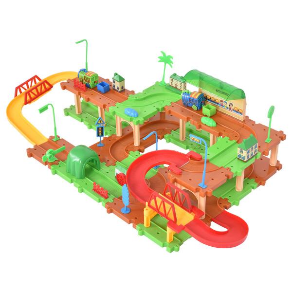 69 Pcs Railway Train Building Blocks Brick Toy TY539918