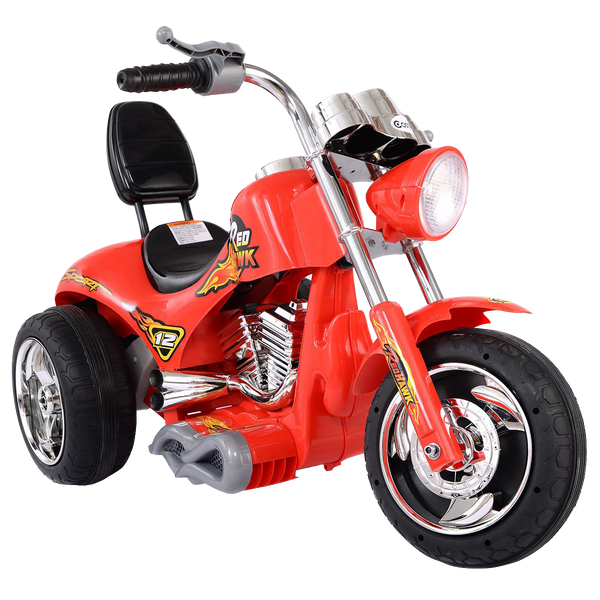 3 Wheel Harley Style Kids Ride On Motorcycle 12V Battery Powered Electric Toy-Red TY324120RE
