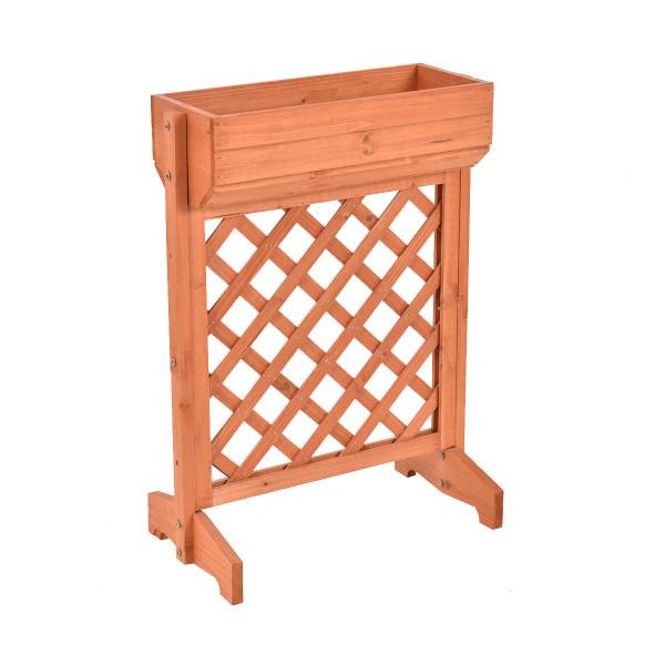 Garden Fir Wood Raised Bed Planter Stand GT2975