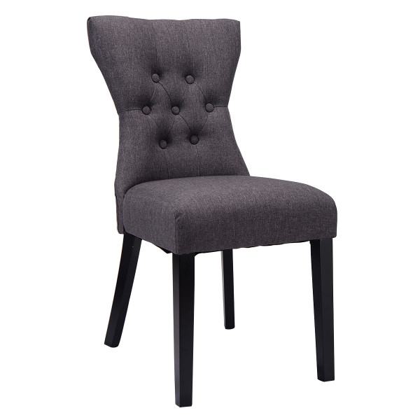 2 Pcs Modern Elegant Dining Chair-Gray HW54137GR