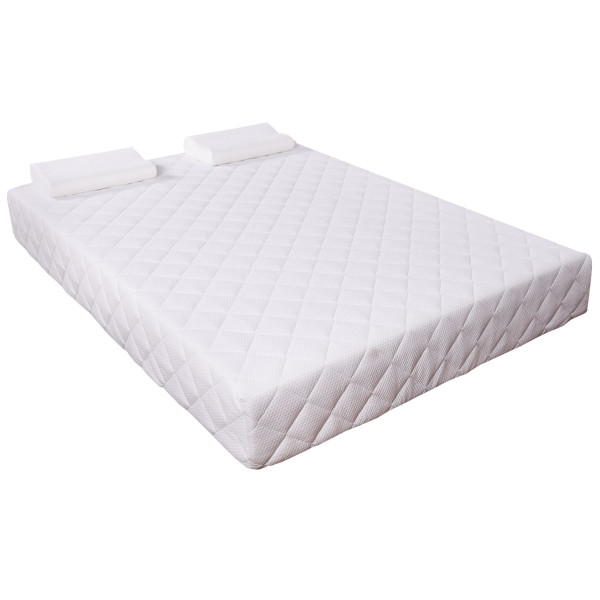 "Queen Size 10"" Memory Foam Mattress With 2 Pillows HT0947"