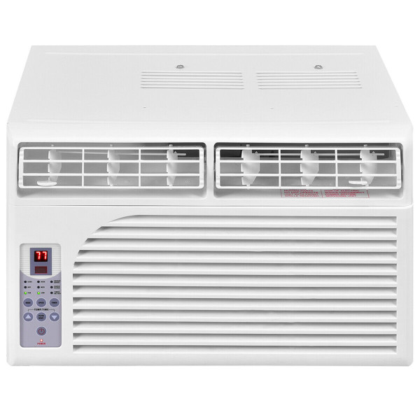 8000 White Compact 115V Window-Mounted Air Conditioner With Remote Control-8000 Btu EP22865-US