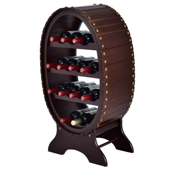 13 Bottles 4 Tier Vintage Wine Rack HW54836