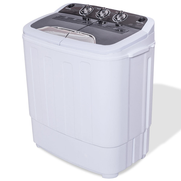 8 Lbs Compact Mini Twin Tub Washing Spiner Machine EP24470