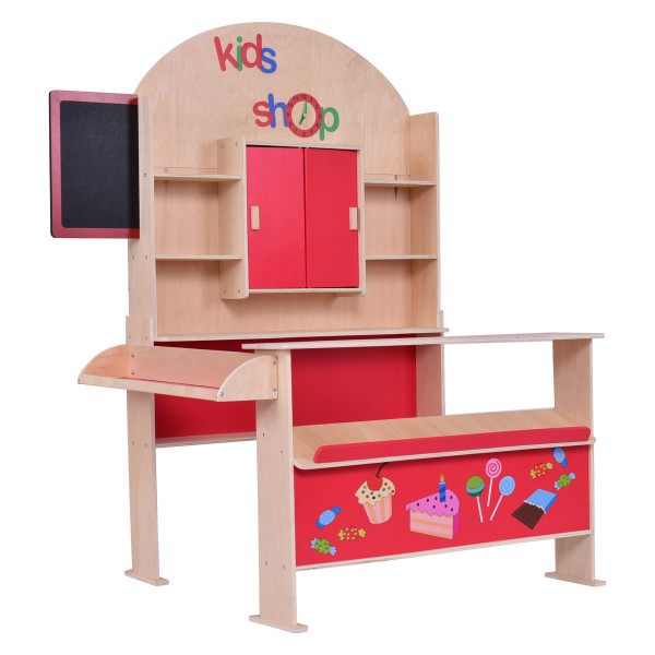 Red Wooden Toy Shop Pretend Play Set HW56112