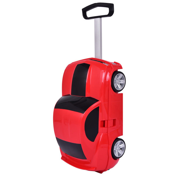 Car Shape 3D Kids Travel Carry-On Trolley Suitcase-Red TY572340RE