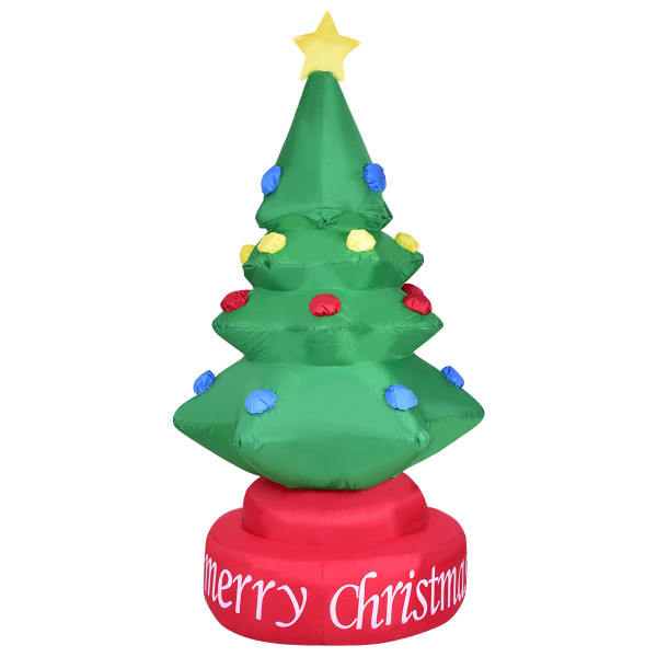 7' Indoor / Outdoor Rotary Inflatable Christmas Tree CM20517US