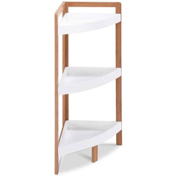 3 Tier Corner Tower Storage Stand Wood Rack HW57019