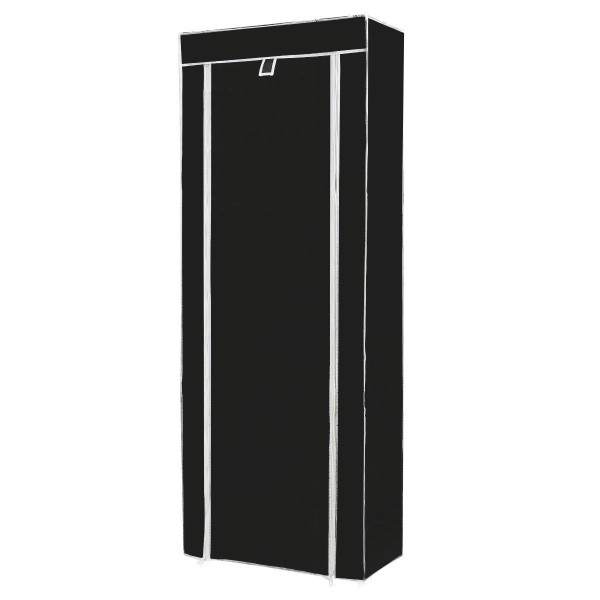 10 Tier Space Saving Shoe Tower Rack With Fabric Cover-Black HW57331BK