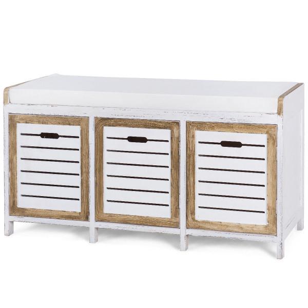 3 Storage Hallway Shoe Stool Seat Bench Ottoman HW57056