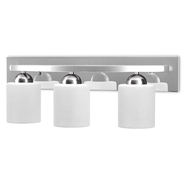 3 Light Glass Wall Sconce Light Lamp With Shade Cover EP23426