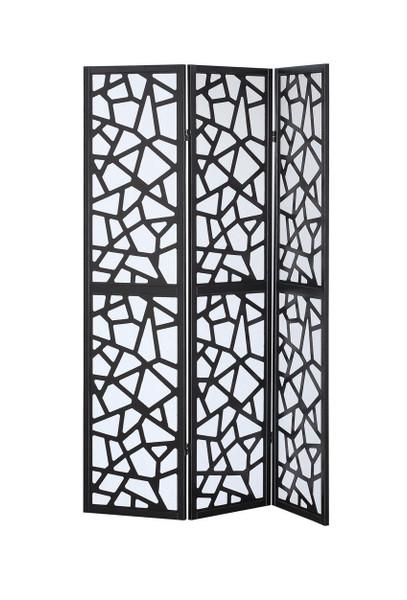 3 Panel Folding Shoji Room Divider Screen With Pine Wood Frame-A HW58837