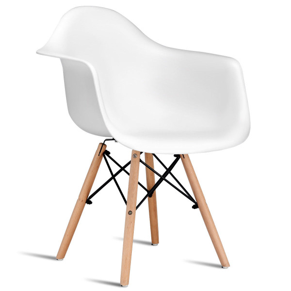 1 Pc Mid Century Modern Dining Eames Chair HW58318