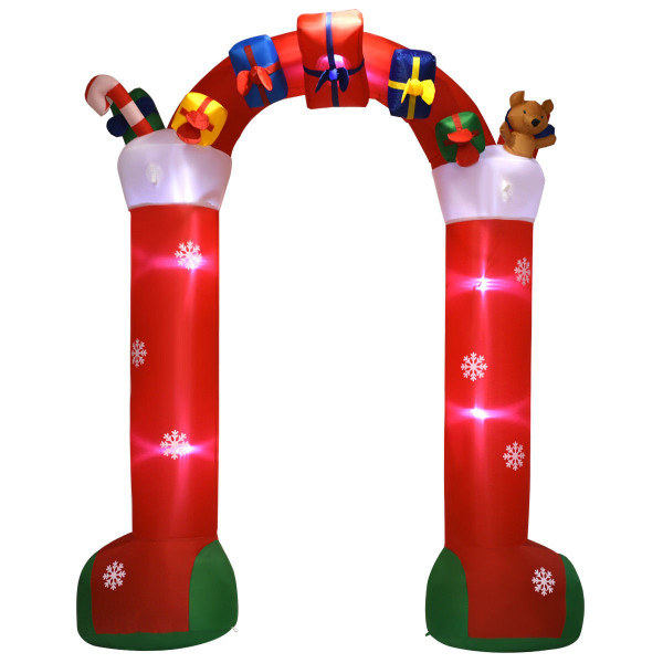 10' Inflatable Christmas Decoration Stocking Archway CM21231