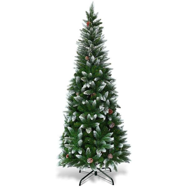 5' / 6' / 7.5' Artificial Pencil Christmas Tree With Pine Cones-5' CM22051