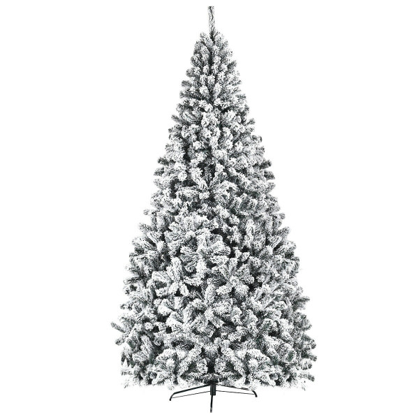9 Ft Premium Snow Flocked Hinged Artificial Christmas Tree CM22069