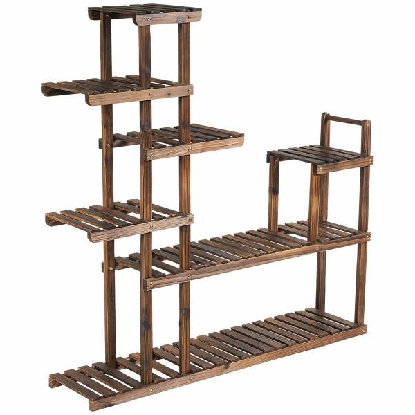 7-Tier Flower Wood Stand Plant Display Rack Storage Shelf GT3438