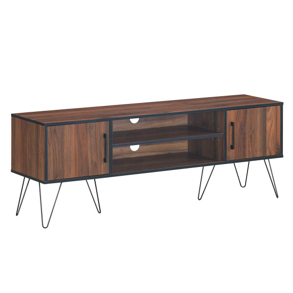 """60"""" Tv Stand Media Center Storage Cabinet With Metal Leg HW62993"""