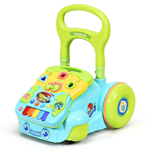 Early Development Toys For Baby Sit-To-Stand Learning Walker-Blue TY578528