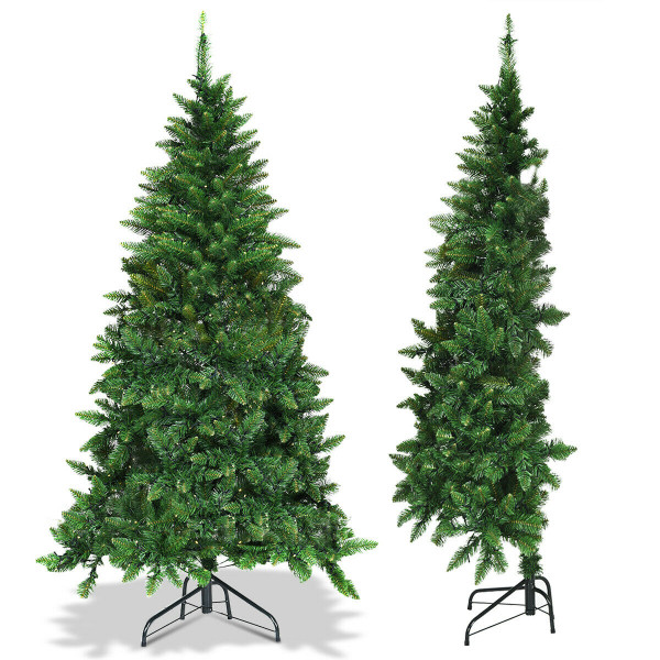 5' / 6' Prelit Artificial Half Christmas Tree With 8 Flash Modes-5' CM22047
