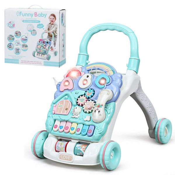 Baby Sit-To-Stand Learning Walker Toddler Musical Toy TY578672