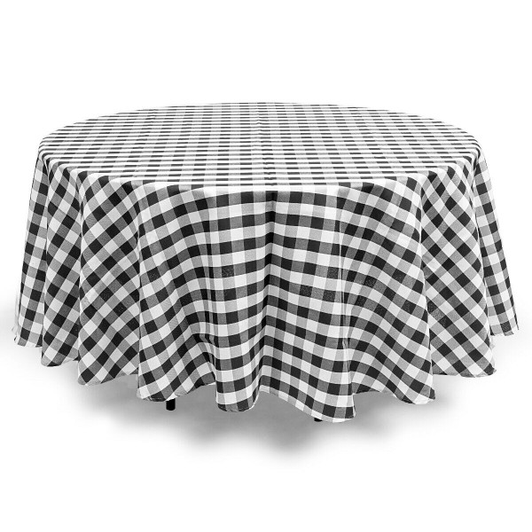 2 Pcs Stain Resistant And Wrinkle Resistant Table Cloth-Black HT1058BK