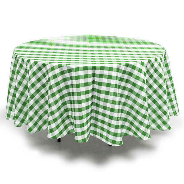 2 Pcs Stain Resistant And Wrinkle Resistant Table Cloth-Green HT1058GN