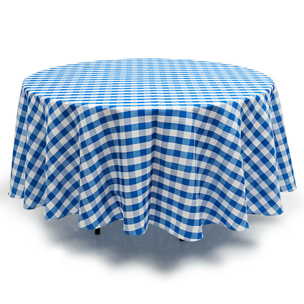 2 Pcs Stain Resistant And Wrinkle Resistant Table Cloth-Blue HT1058NY