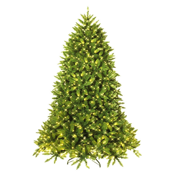 7.5 Ft Pre-Lit Pvc Christmas Fir Tree With 700 Led Light CM22059